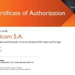 VS_EMEA_Authorized_Distributor_Certificate - Telcom Radio 2016